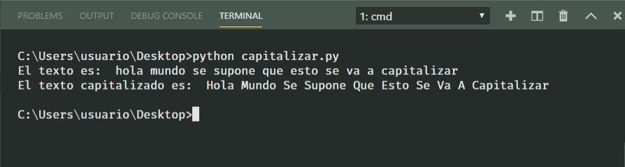Capitalizar texto u oración en Python 3
