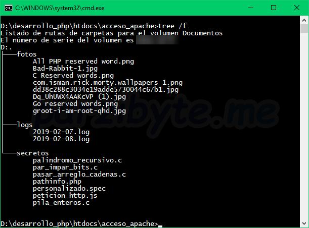 Carpeta pública para ejemplificar control con Apache Web Server