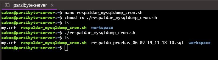 Configurar script para respaldar base de datos
