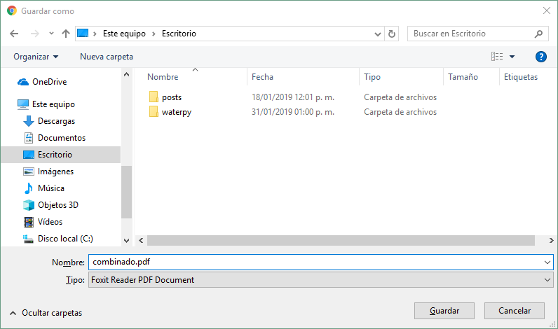 Descargando PDF combinado con PHP