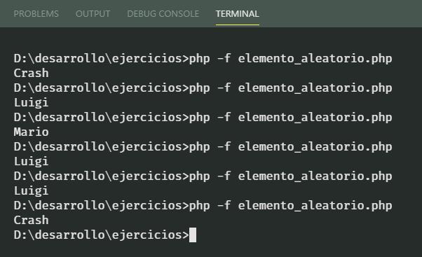 Elemento aleatorio de arreglo en PHP