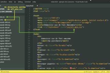 Estructura de CSS y Fuentes de Font Awesome