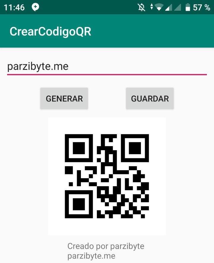 Mostrar código QR en ImageView de Android