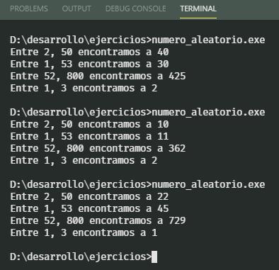 Números aleatorios en rango con ANSI C