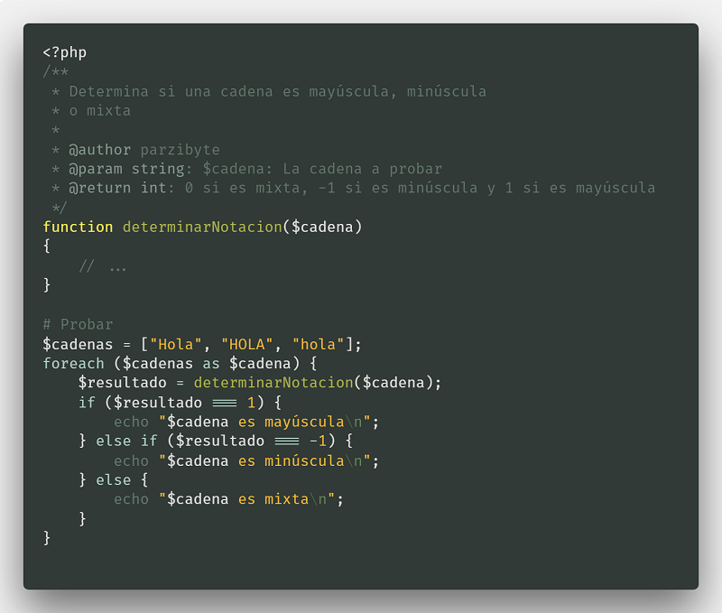 PHP - Determinar si cadena es minúscula, mayúscula o mixta