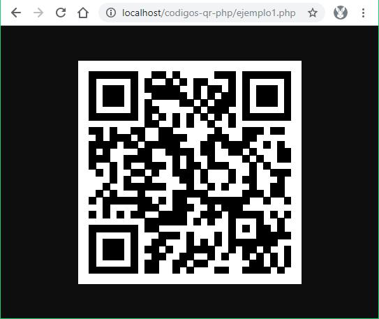 Primer código QR generado con PHP