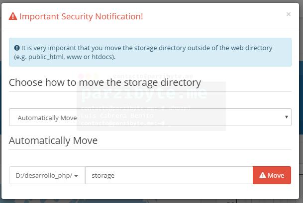 5.2 - Mover directorio de almacenamiento