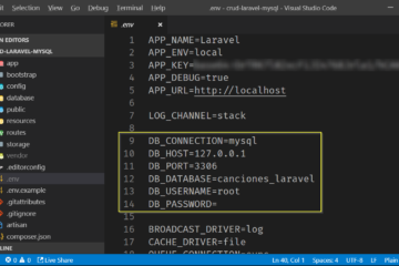 Env de Laravel para MySQL