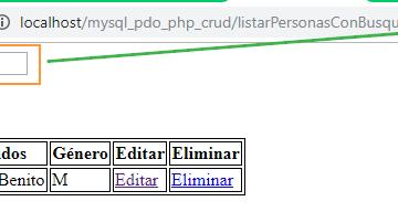 Like de SQL con PHP y PDO