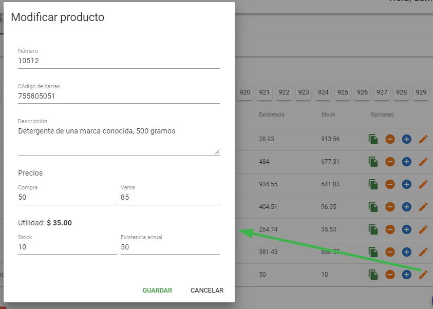 Modificar precio de producto con Sublime POS 3
