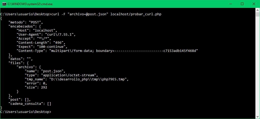 curl - Enviar archivo binario, no su contenido