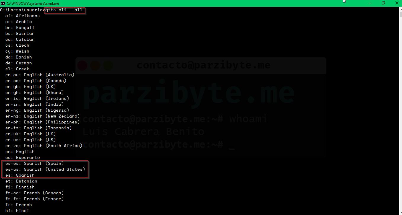 2 - Comprobar lenguajes instalados