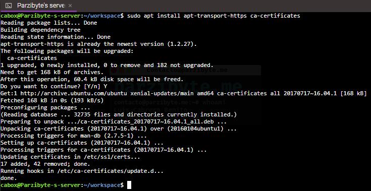 3 - Instalar paquetes de apt-transport-https