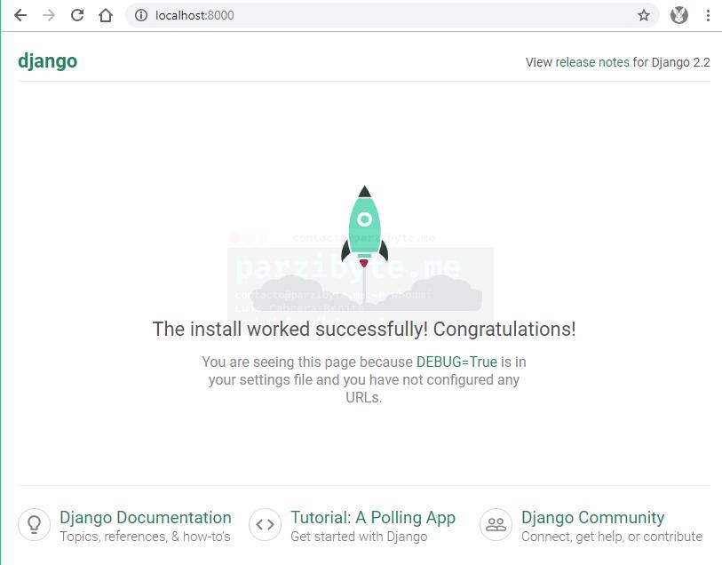4 - Abrir nuestra primera webapp con Django en el navegador