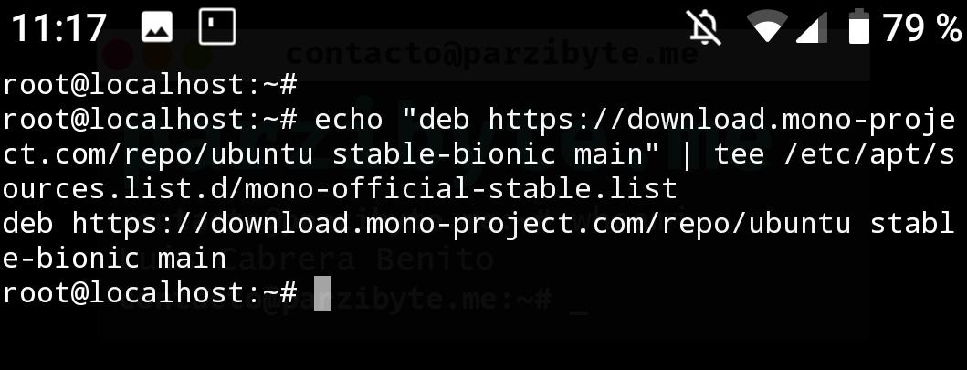 4 - Agregar repositorio de Mono a Ubuntu