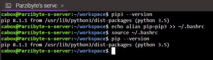4 - Renombrar pip3 a pip en Linux Ubuntu