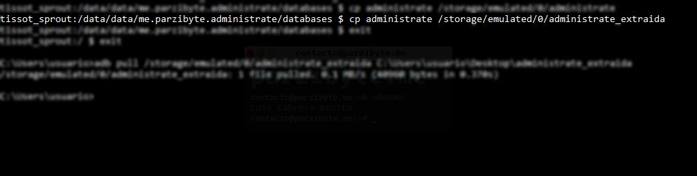 5 - Copiar base de datos al almacenamiento externo