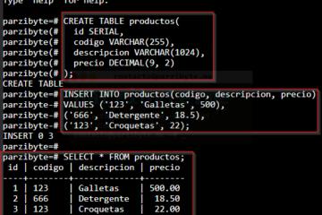 6 - Crear tablas, insertar y listar datos