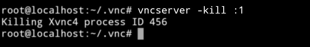 Detener servidor VNC en Android