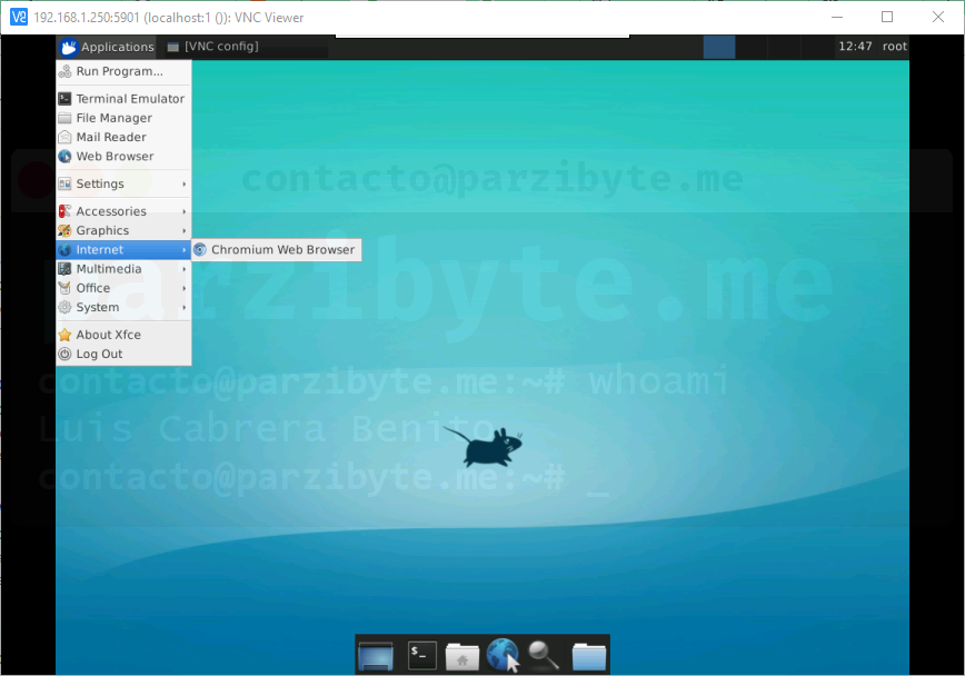 Escritorio xfce4 en Ubuntu sobre Android - VNC desde Windows