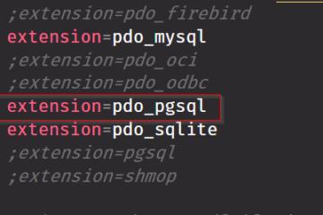 Extensión pdo_pgsql en PHP