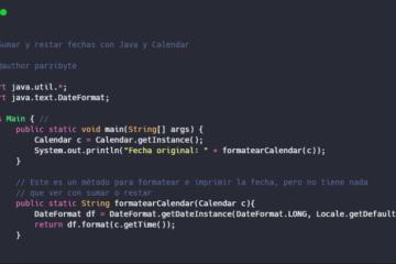 Java y Calendar - Operar con fechas, sumar y restar