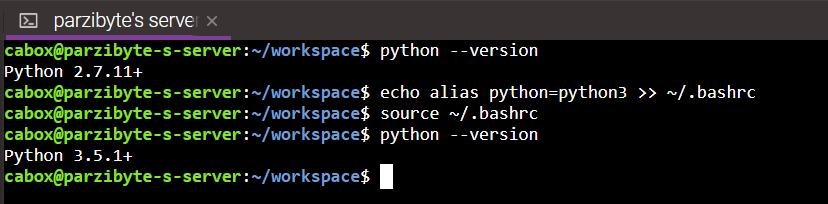 Renombrar ejecutable de python3 a python en Linux Ubuntu