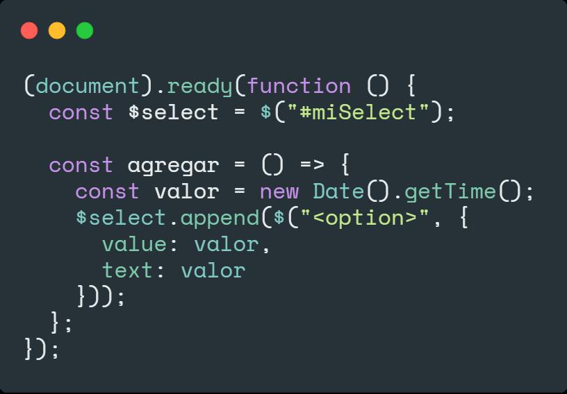 jQuery y select - Manipular elemento HTML