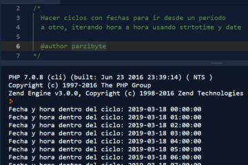 Hacer ciclos con fechas en PHP