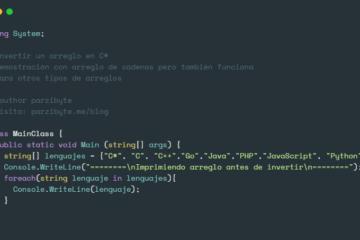 Invertir arreglo en C#