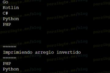 Invertir arreglo en Java
