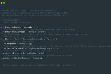 Invertir arreglo en JavaScript