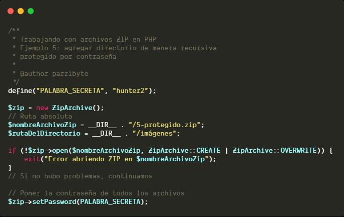 Crear Archivos Zip Con Php Agregar Archivos Y Directorios