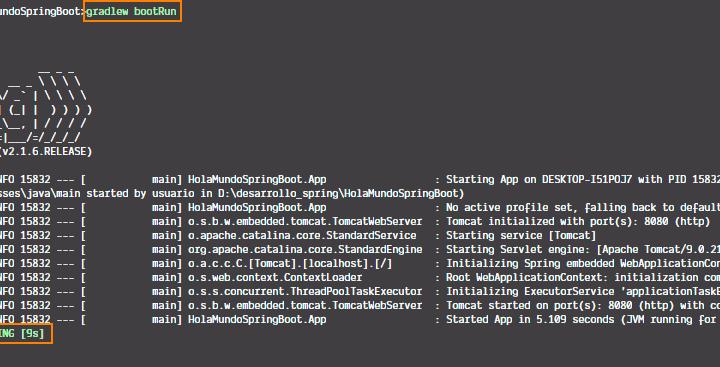 3 - Ejecutar app de Spring Boot con gradlew