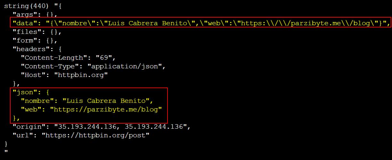 Enviar JSON con PHP