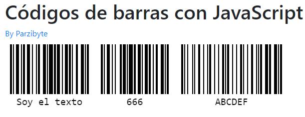Generando varios códigos de barras con JavaScript