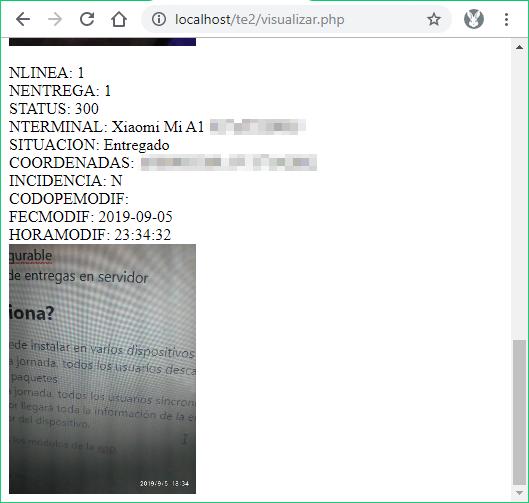 12 - Visualizar entrega enviada al servidor - App de entregas android
