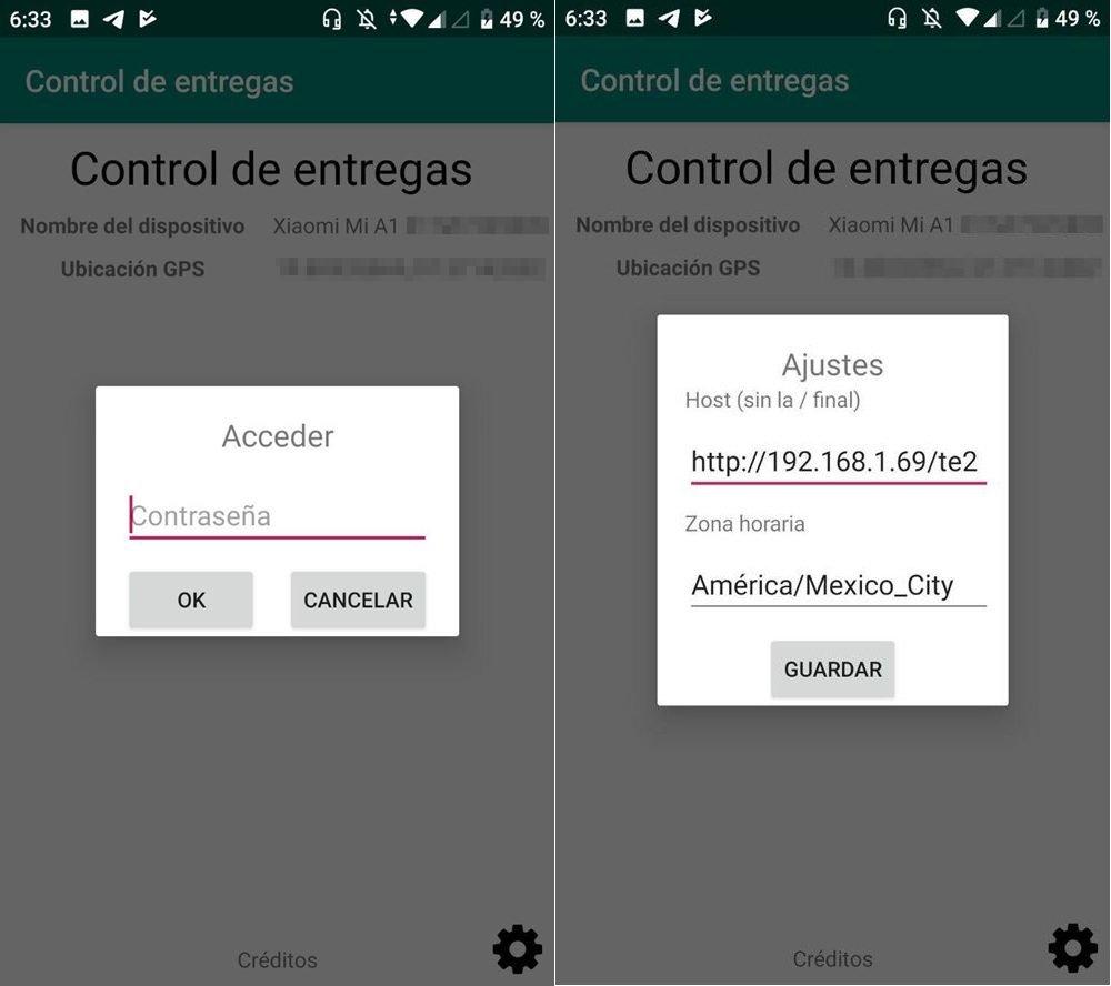 2 - Ajustes de la app de entregas