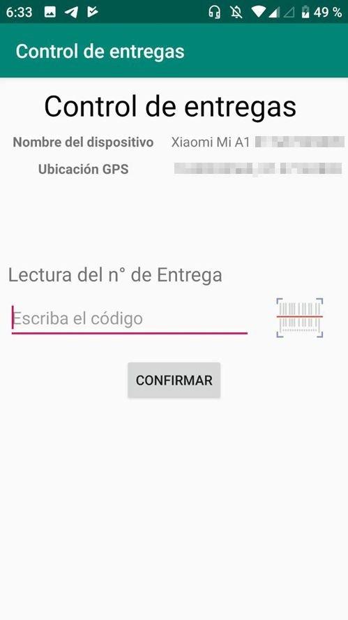App de entrega de paquetes con Android