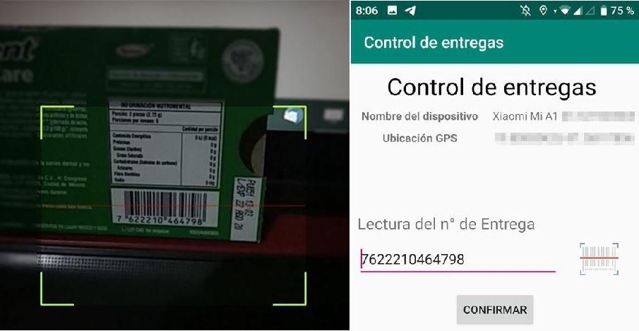 6 - Leer código de barras de paquete con cámara en App de entregas