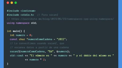 Convertir cadena a entero en C++