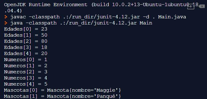 Definir y recorrer arreglos en Java