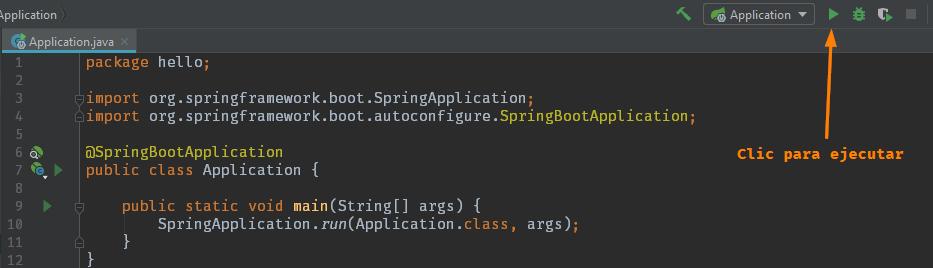 Ejecutar proyecto de Spring Boot en IntelliJ IDEA