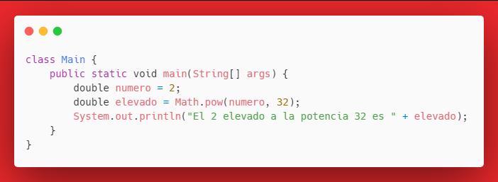 Elevar número en Java usando Math.pow