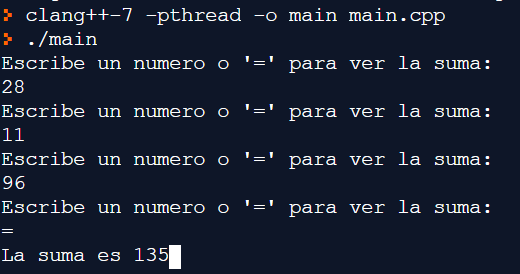 Sumar números hasta encontrar carácter en C++