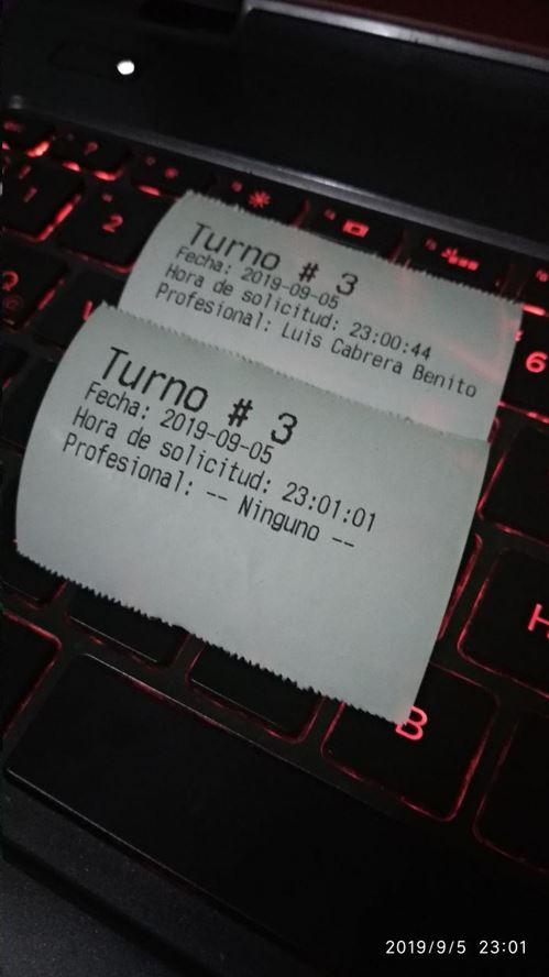 Tickets de turno - Software turnero web