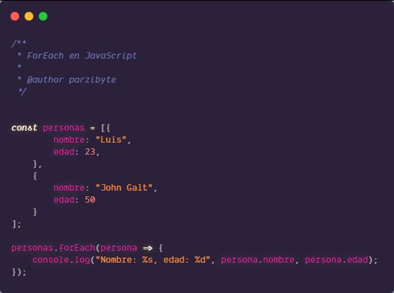 forEach en JavaScript - Ejemplos y sintaxis