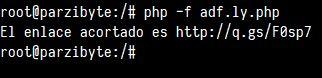 Consumir API de adf.ly con PHP