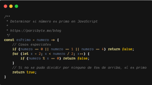 Número primo en JavaScript