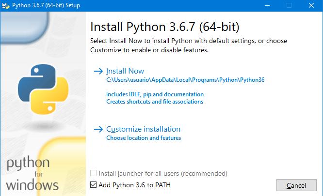 Python 64 bits